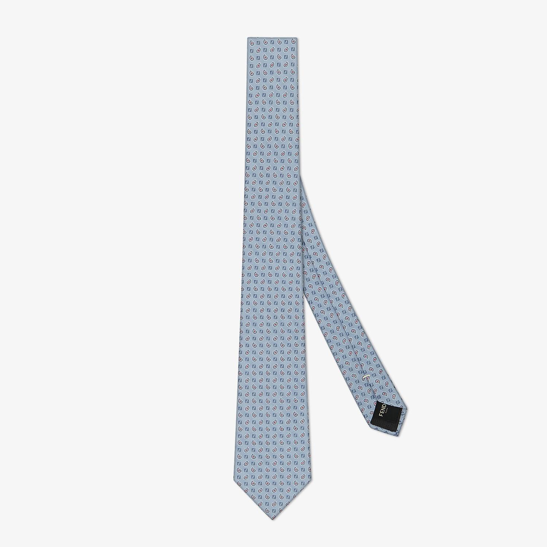 FENDI TIE - Light blue silk tie - view 1 detail