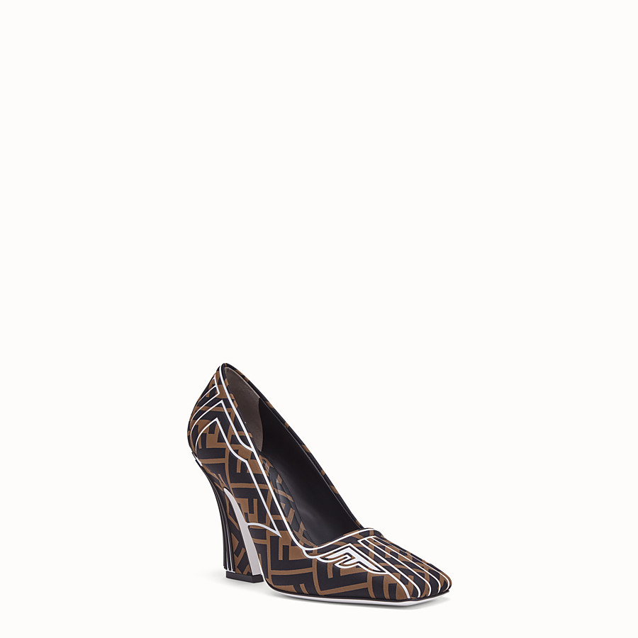 FENDI COURT SHOES - Court shoes in brown fabric - view 2 detail