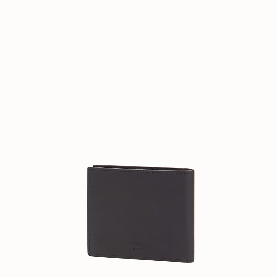 FENDI WALLET - Black leather bi-fold with inlay - view 2 detail