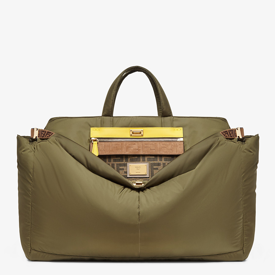 FENDI PEEKABOO ICONIC LARGE - Green nylon bag - view 1 detail