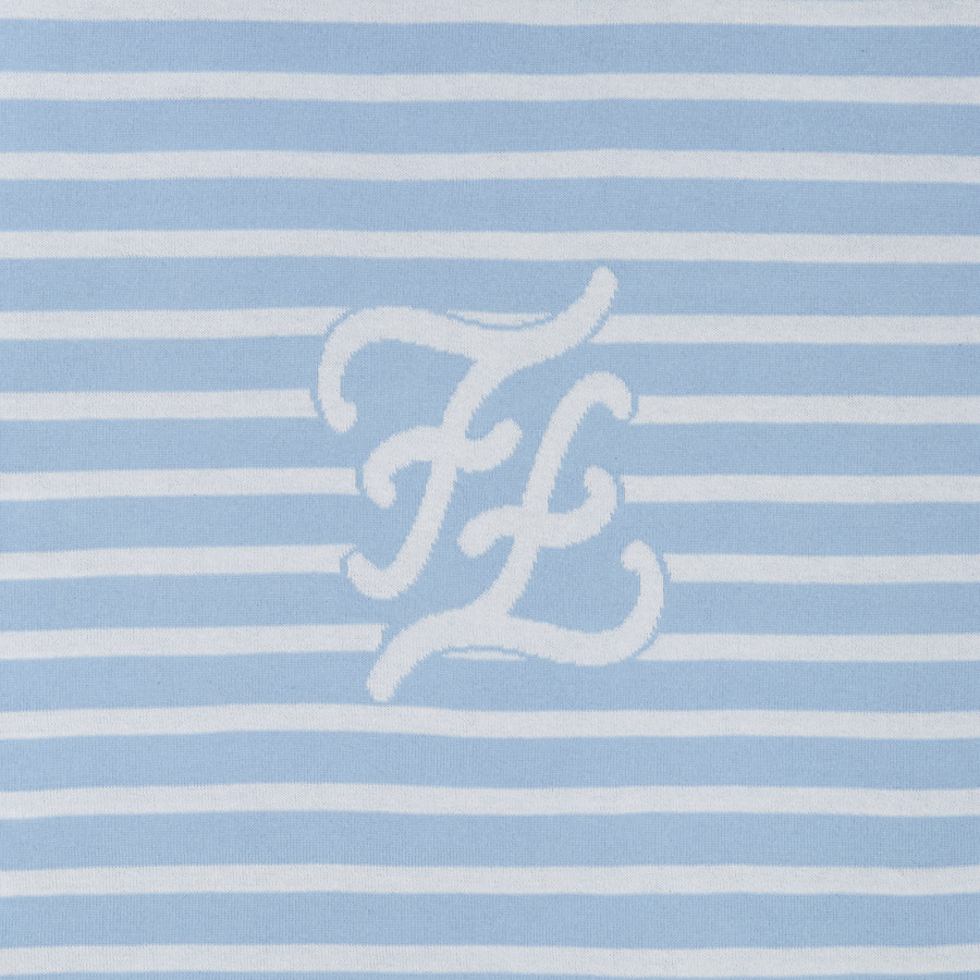 FENDI KNITTED BABY BLANKET - Knitted blanket with inlay - view 3 detail