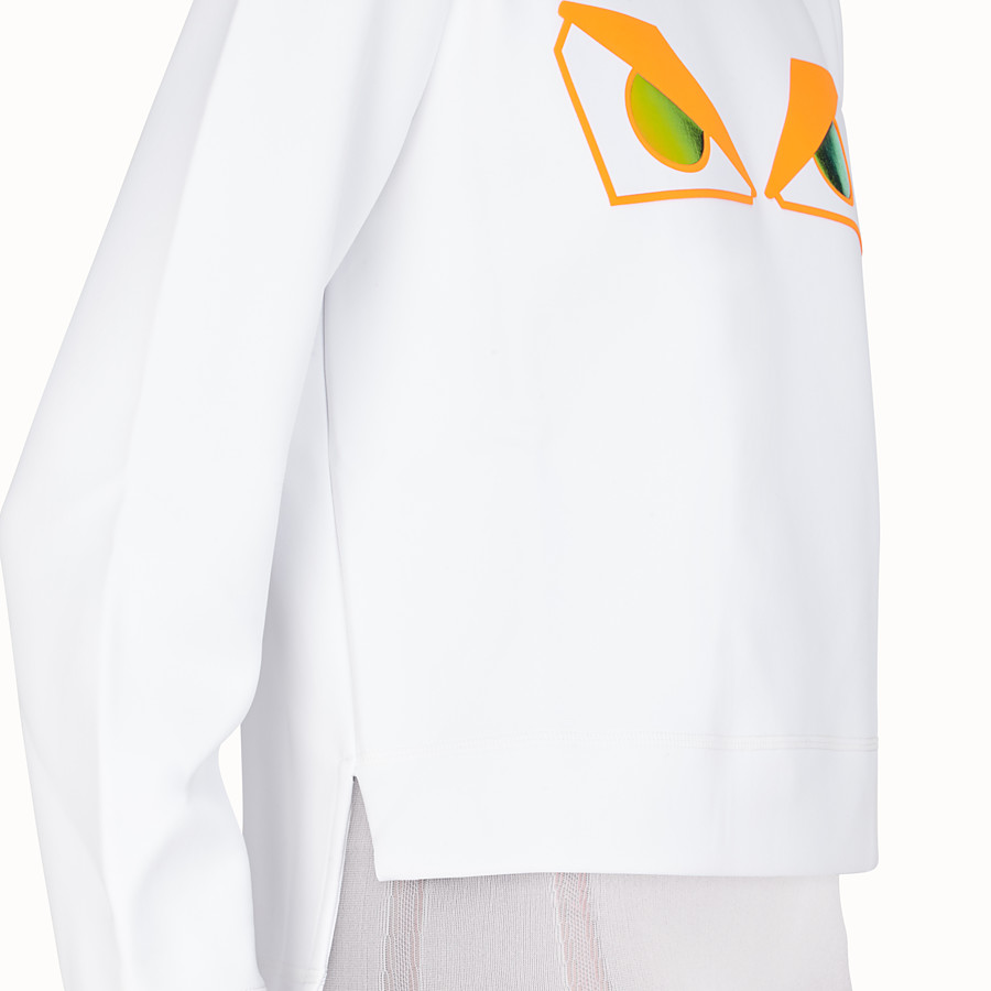FENDI SWEATSHIRT - White fabric sweatshirt - view 4 detail