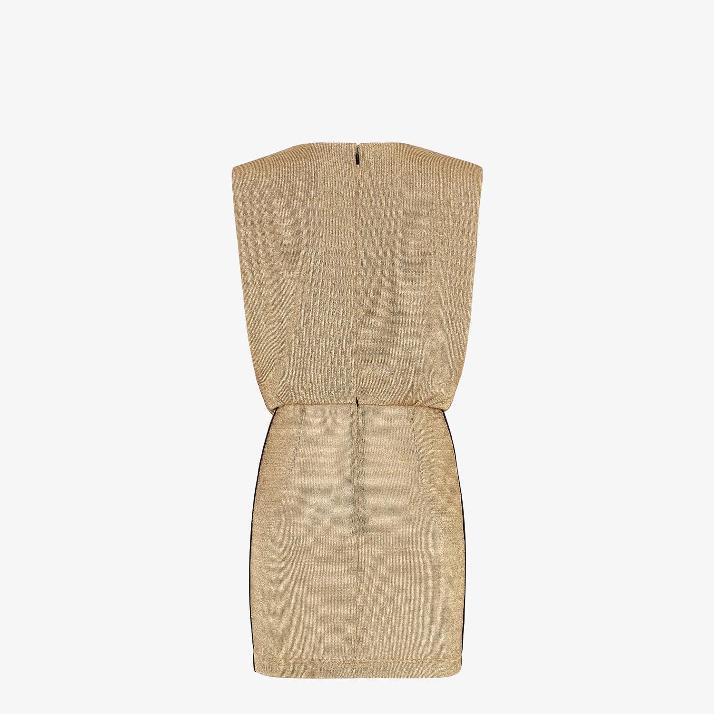 FENDI DRESS - Gold Lurex dress - view 2 detail