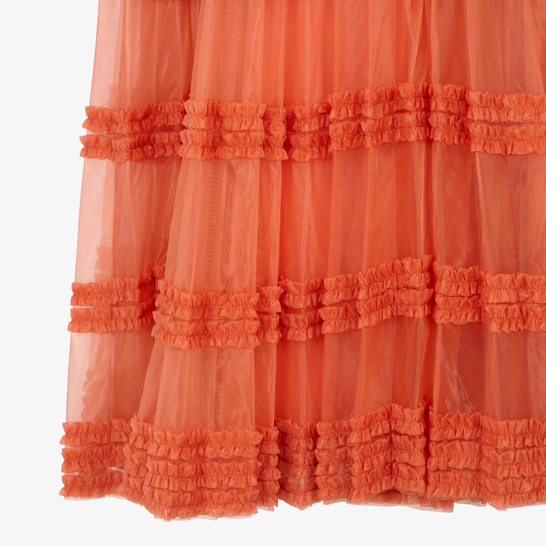 FENDI DRESS - Orange tech jersey dress - view 3 detail