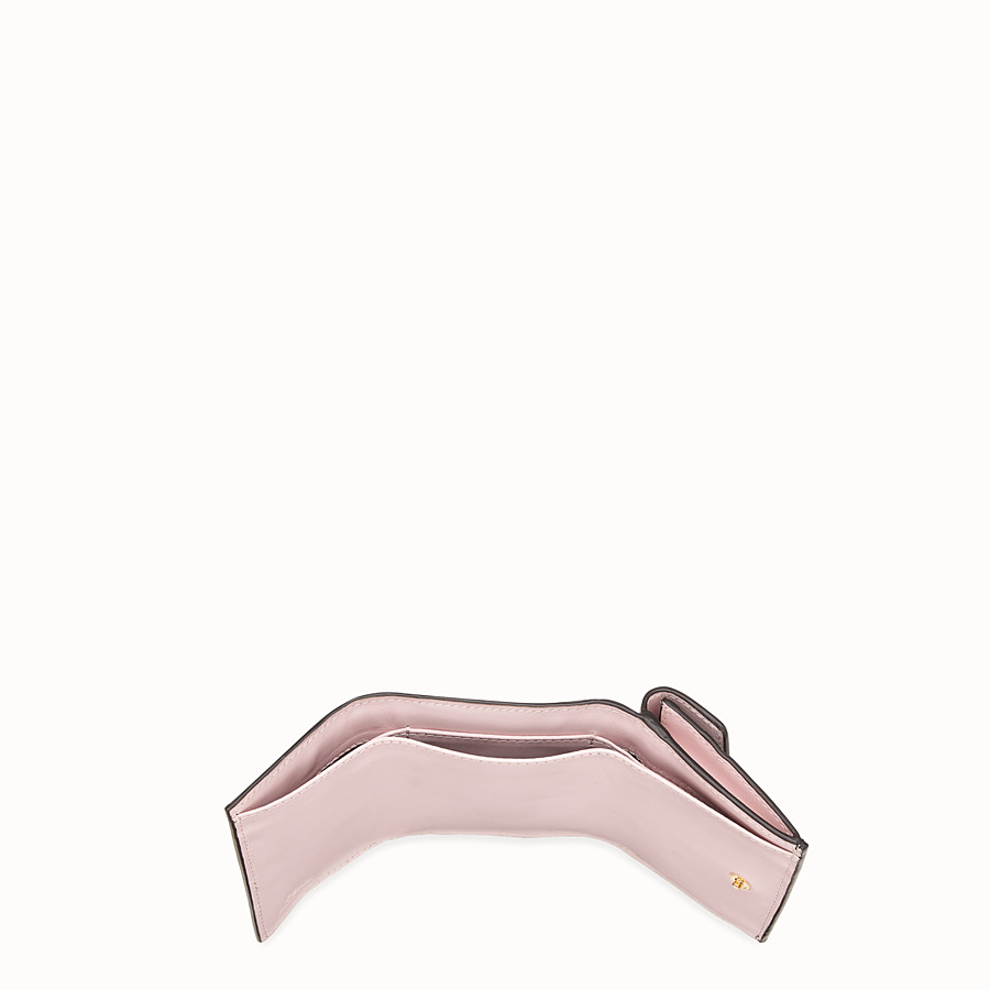 FENDI MICRO TRIFOLD - Pink leather wallet - view 5 detail