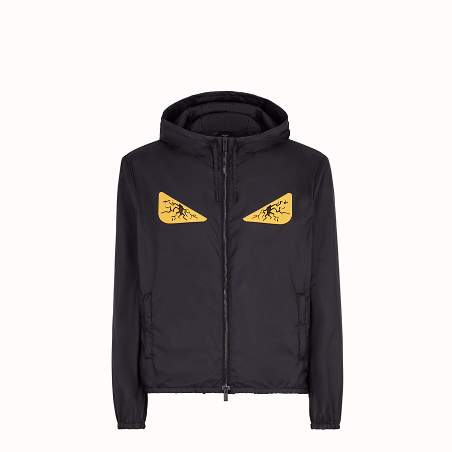 FENDI WINDBREAKER - Windbreaker in black nylon - view 1 detail