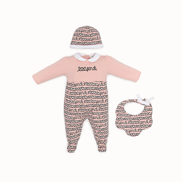 FENDI KIT BABY GIRL - Kit in cotone rosa - vista 1 thumbnail piccola
