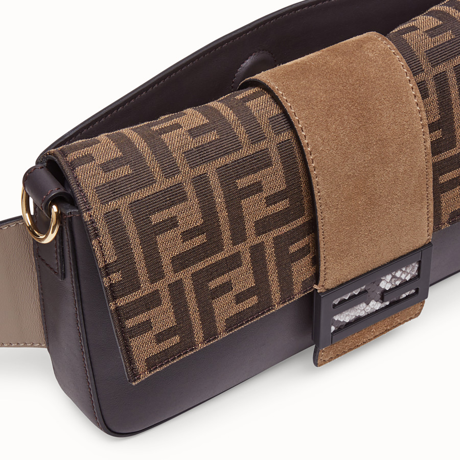 FENDI BAGUETTE - Brown calfskin bag - view 6 detail