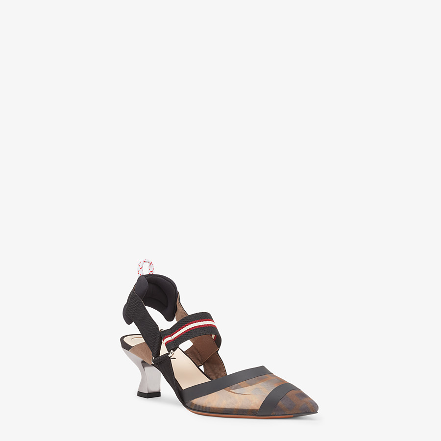 FENDI SLINGBACKS - Multicolor Colibrì in technical-mesh - view 2 detail