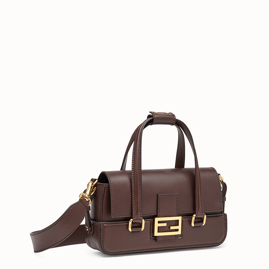FENDI BAGUETTE WITH BASKET CASE - Brown leather bag - view 4 detail
