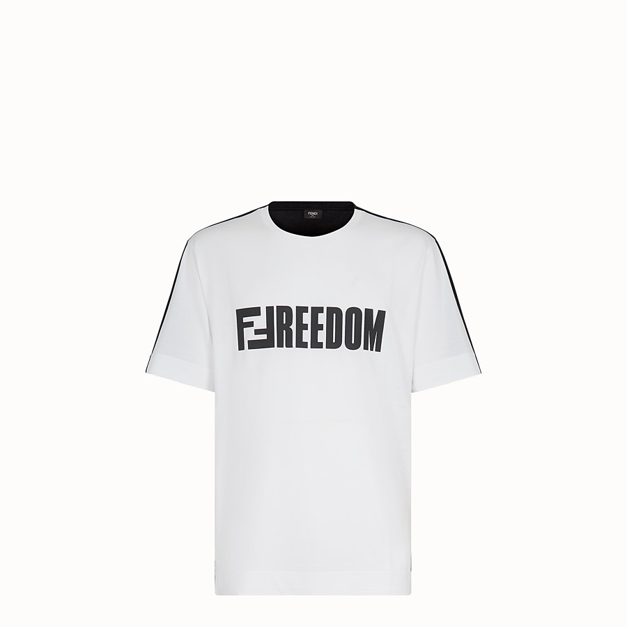 FENDI T-SHIRT - T-shirt en coton multicolore - view 1 detail