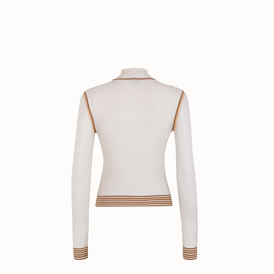 FENDI JUMPER - White silk jumper - view 2 detail
