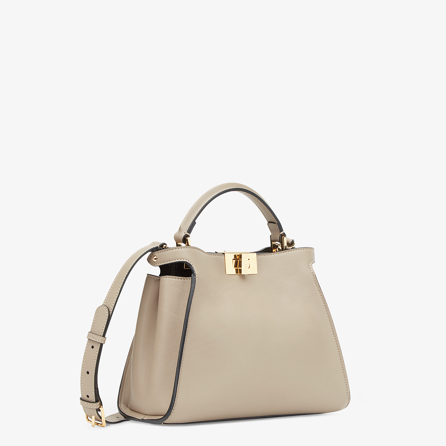 FENDI PEEKABOO ICONIC ESSENTIALLY - Dove grey leather bag - view 2 detail