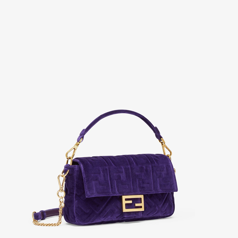 FENDI BAGUETTE - Purple velvet bag - view 2 detail