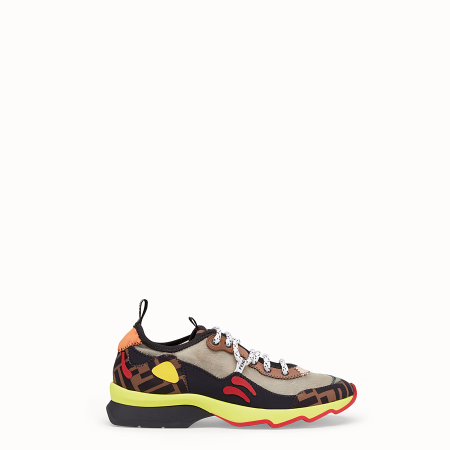 FENDI SNEAKERS - Multicolour technical mesh sneaker - view 1 detail