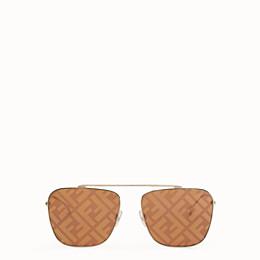 FENDI FF FAMILY - Sonnenbrille aus Metall mit FF-Logo - view 1 thumbnail