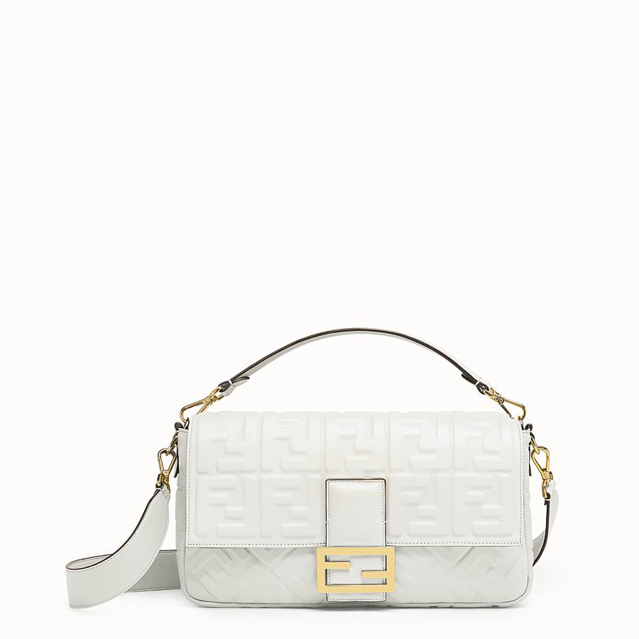 FENDI BAGUETTE LARGE - Sac en cuir blanc - view 1 detail