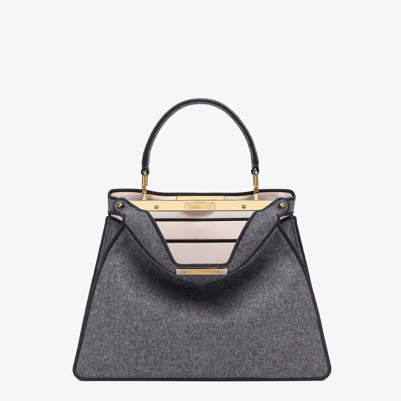 FENDI MEDIUM PEEKABOO ISEEU - Gray flannel bag - view 1 detail