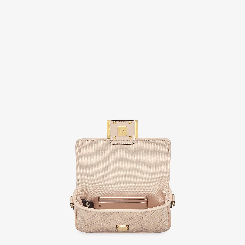 FENDI MINI BAGUETTE - Pink FF canvas bag - view 4 detail