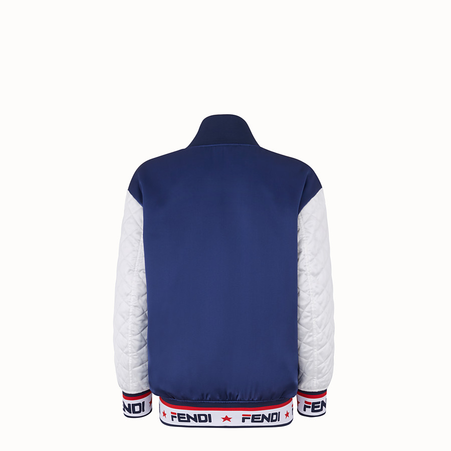 FENDI JACKET - White satin bomber jacket - view 2 detail