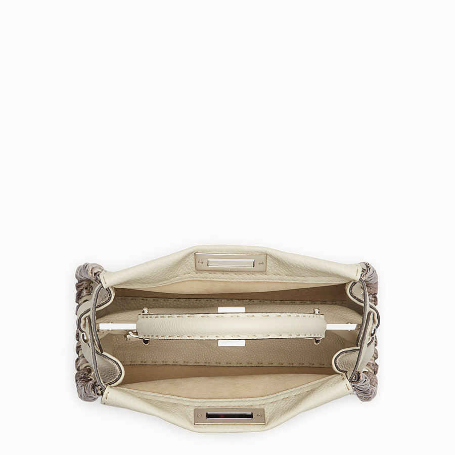 FENDI PEEKABOO REGULAR - Bolso de mano Selleria blanco con trenzado - view 4 detail