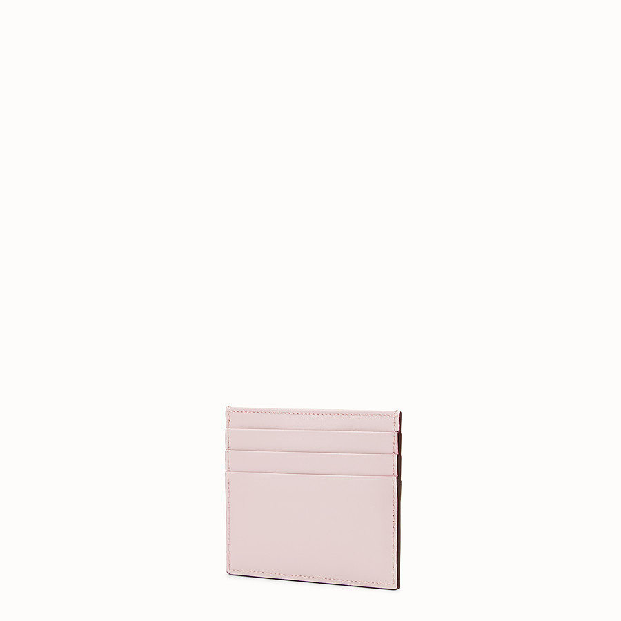 FENDI CARD HOLDER - Multicolour leather flat card holder - view 2 detail