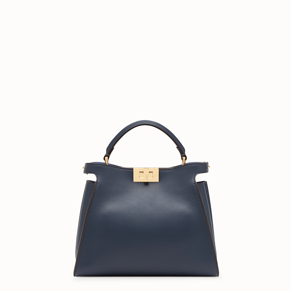 FENDI PEEKABOO ESSENTIALLY - Blue leather bag - view 1 small thumbnail