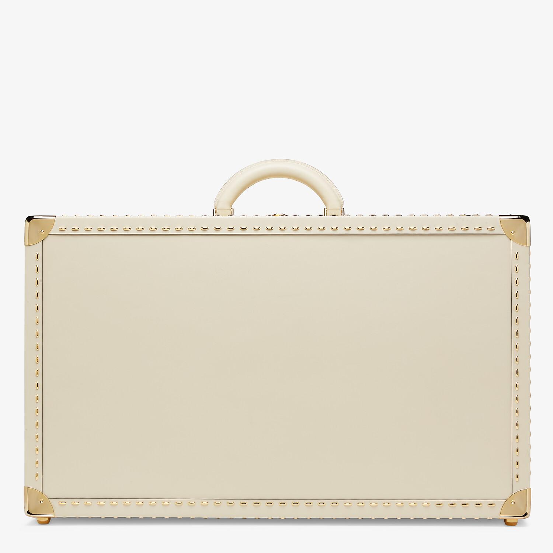 FENDI TRAVEL CASE LARGE - White leather suitcase - view 3 detail