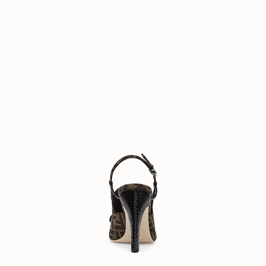FENDI SLINGBACKS - Multicolor fabric slingbacks - view 3 detail