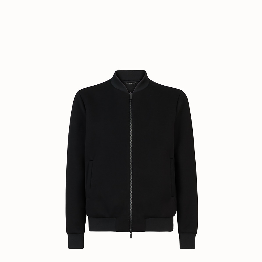 FENDI BLOUSON JACKET - Black fabric jacket - view 1 detail