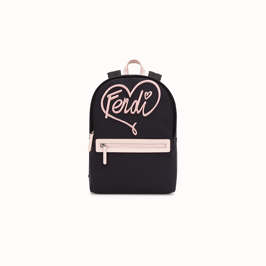 FENDI BABY BACKPACK - Black and pink neoprene backpack - view 1 detail