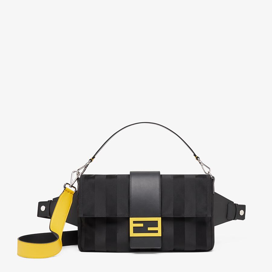 FENDI BAGUETTE LARGE - Black nylon bag - view 1 detail