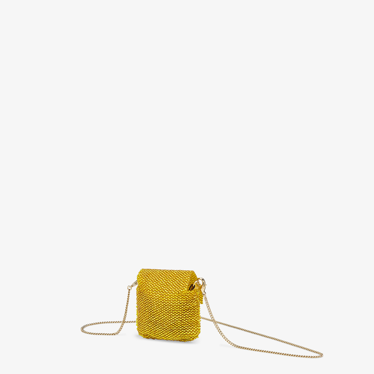 FENDI PICO BAGUETTE CHARM - Charm with yellow beads - view 2 detail