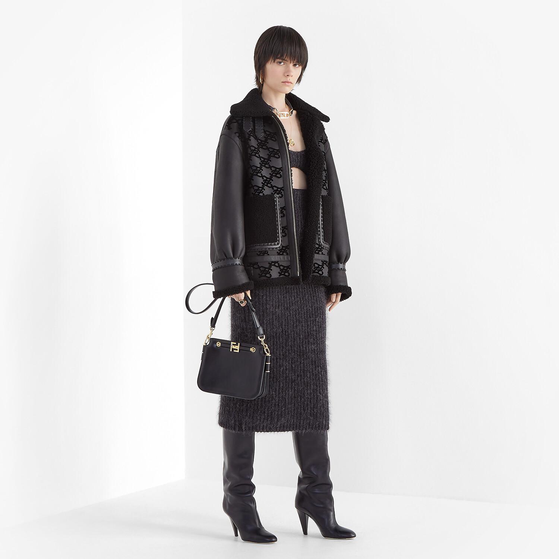 FENDI FENDI TOUCH - Black leather bag - view 2 detail