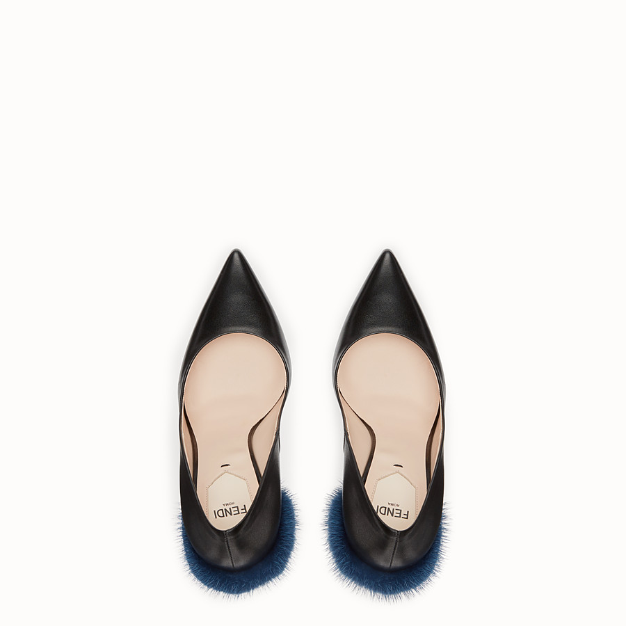 FENDI PUMPS - Black leather court shoes - view 4 detail
