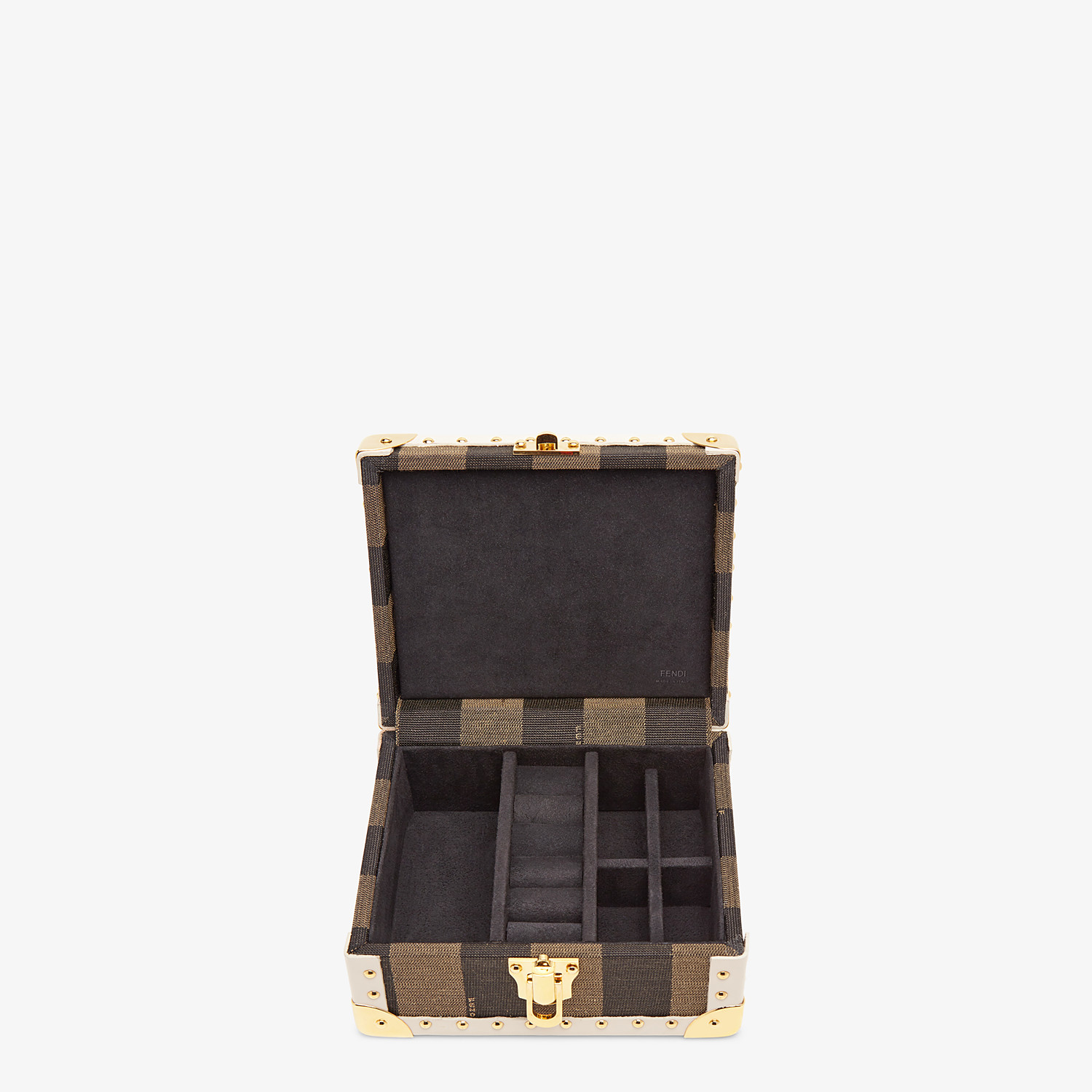 FENDI TRAVEL CASE SMALL - Travel case in brown jacquard - view 2 detail