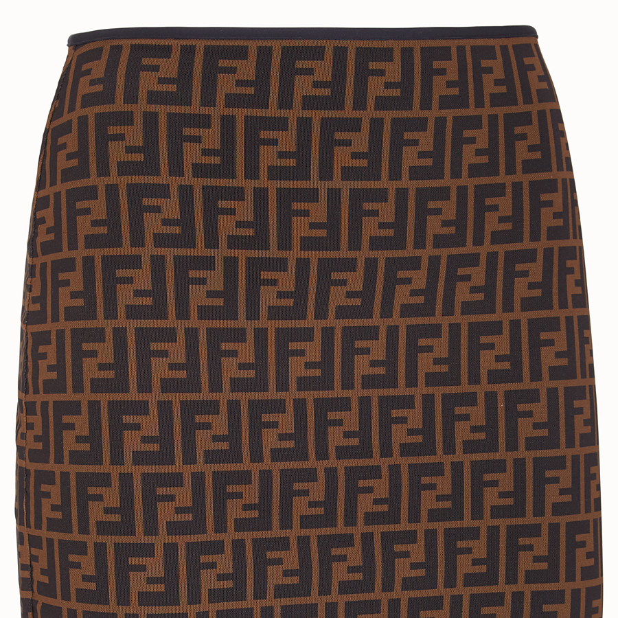 FENDI SKIRT - Brown micro mesh skirt - view 3 detail