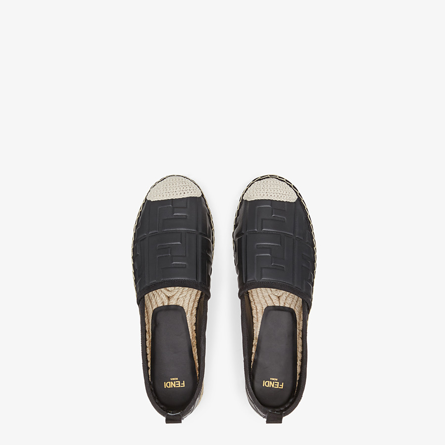 FENDI ESPADRILLES - Black leather espadrilles - view 4 detail