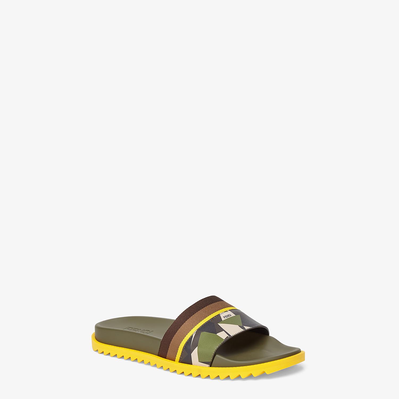 FENDI SLIDES - Multicolor leather footbed - view 2 detail