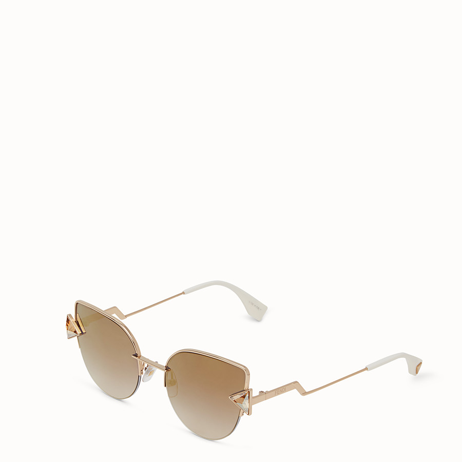 FENDI RAINBOW - Gold sunglasses. - view 2 detail