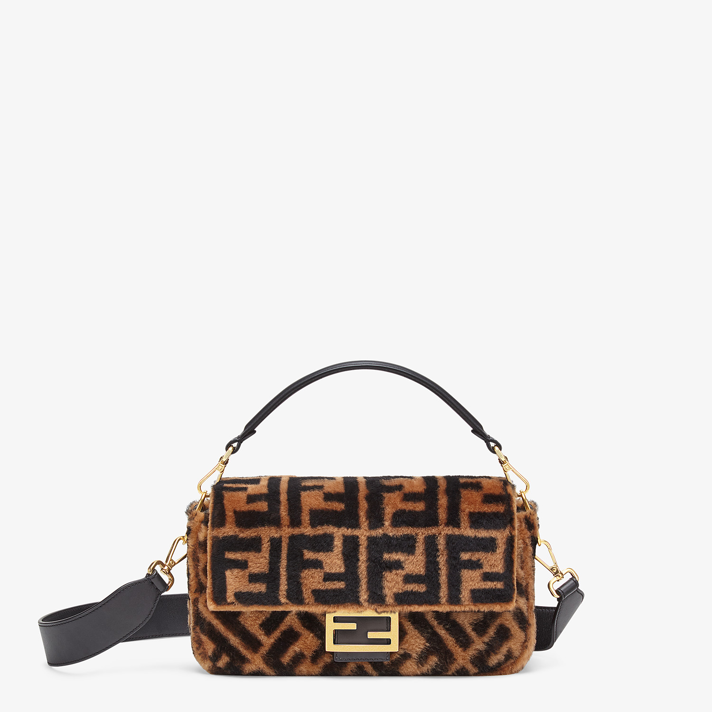 FENDI BAGUETTE - Brown sheepskin bag - view 1 detail
