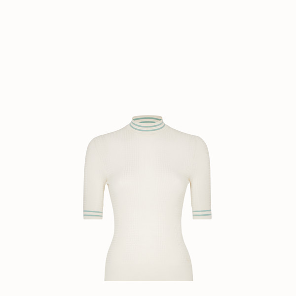 FENDI PULLOVER - White silk jumper - view 1 small thumbnail