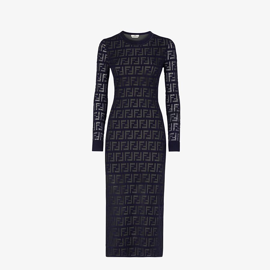 FENDI DRESS - Blue cotton dress - view 1 detail