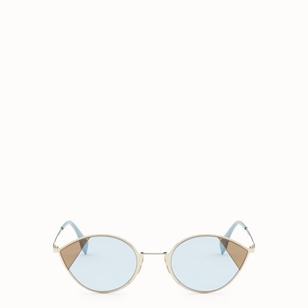 FENDI CUT-EYE - Gold-colour sunglasses - view 1 small thumbnail