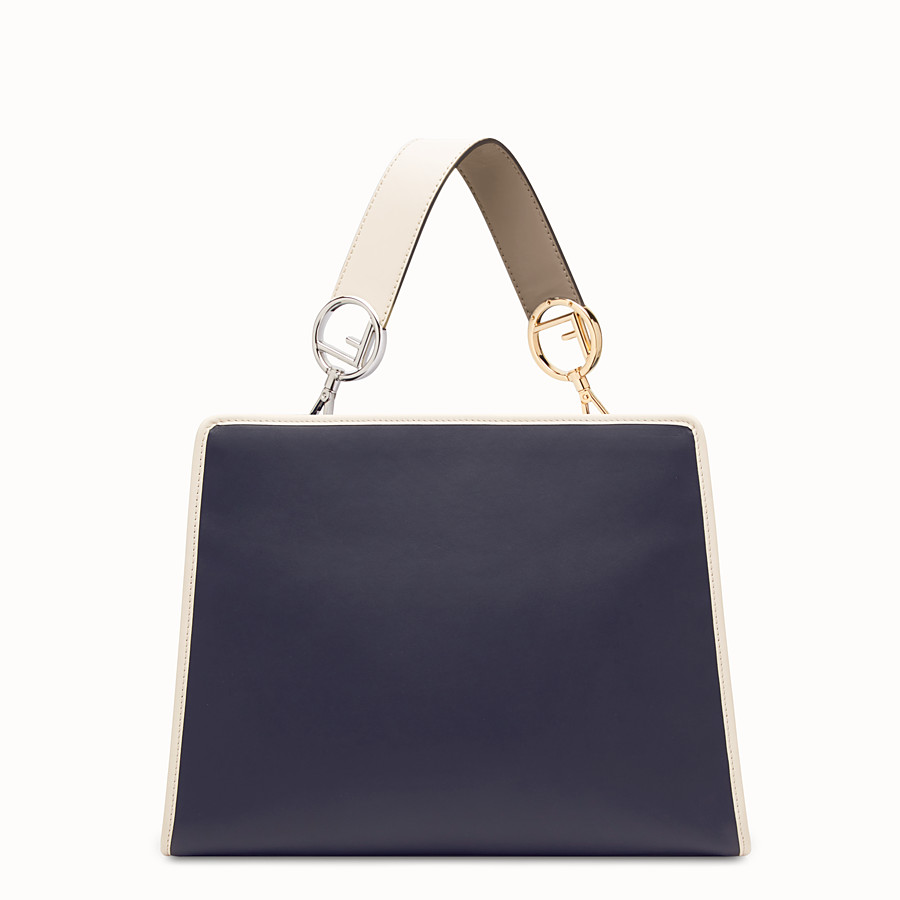 FENDI RUNAWAY REGULAR - Tasche aus Leder in Blau - view 3 detail