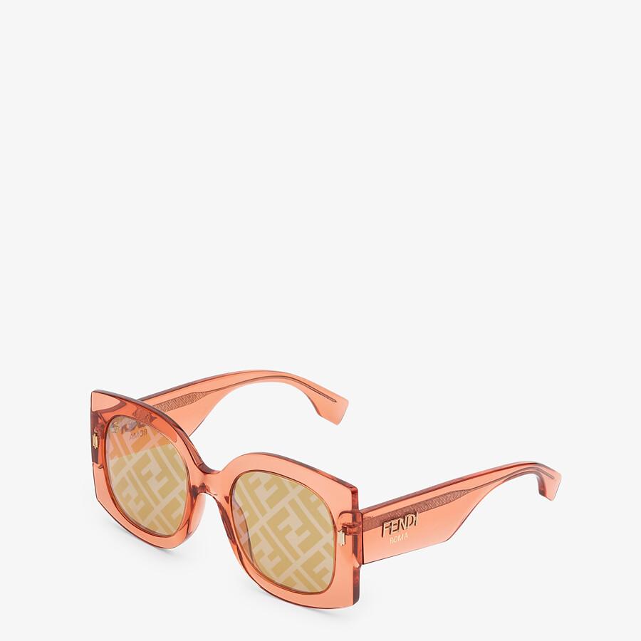 FENDI FENDI ROMA - Sunglasses in transparent orange acetate - view 2 detail