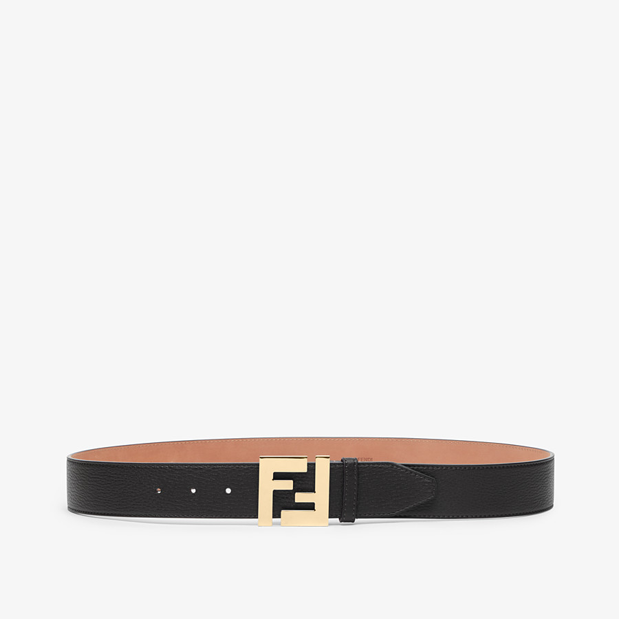 FENDI BELT - Black Cuoio Romano leather belt - view 1 detail