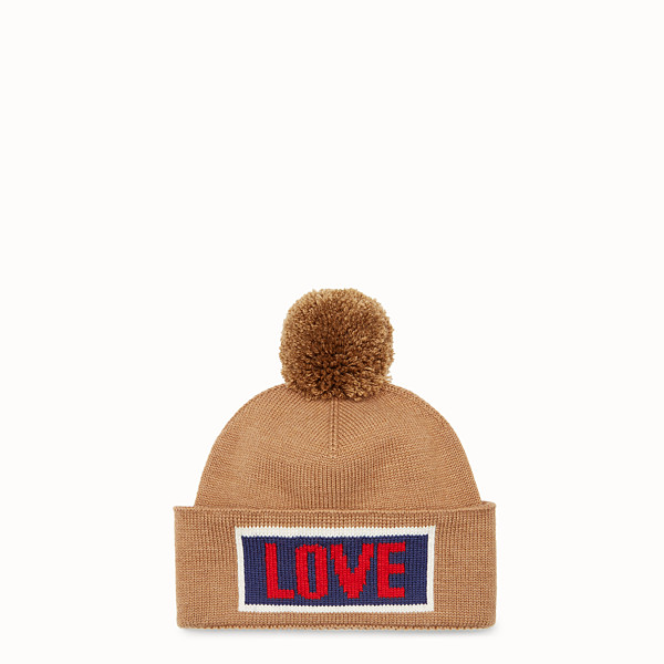FENDI HAT - Beige wool hat - view 1 small thumbnail