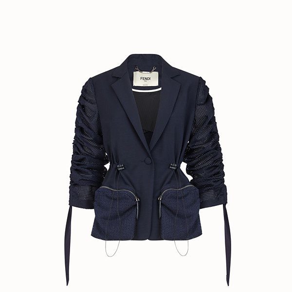 FENDI JACKET - Blazer in blue mohair - view 1 small thumbnail