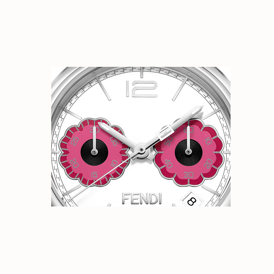 FENDI MOMENTO FENDI - 40 mm - Chronograph watch with flowers and strap - view 3 detail